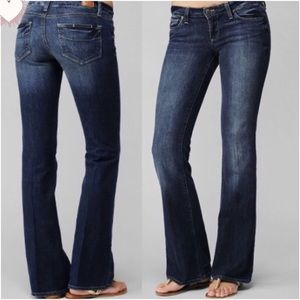Paige Laurel Canyon Low Rise Boot Cut Jeans GUC